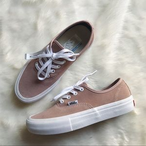 b904ed537ff1 Vans Shoes - Vans Mahogany Rose Suede Authentic Pro Sneakers